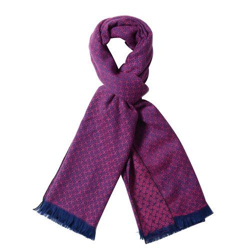 Purple Colour Chequer Pattern Scarf (Size 180x65 Cm)
