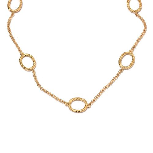 RACHEL GALLEY - 14K Gold Overlay Sterling Silver Station Necklace (Size 24)