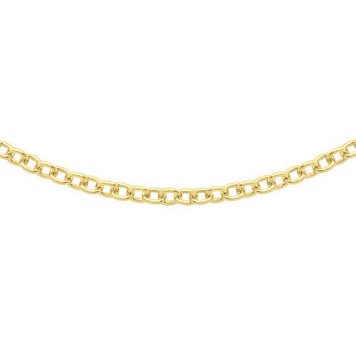 ILIANA 18K Yellow Gold Trace Chain (Size 18)