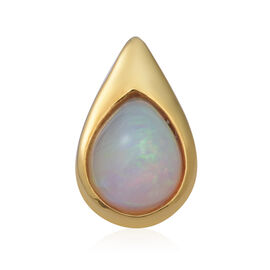 Ethiopian Welo Opal Drop Pendant in Yellow Gold Overlay Sterling Silver 1.50 Ct.
