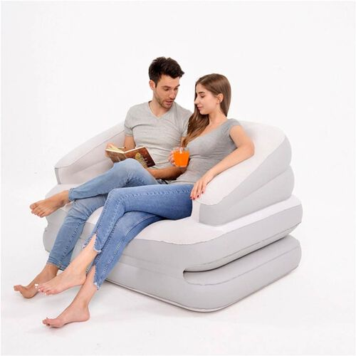 Multifunctional 5-in-1 Sofa Bed with Electric Pump (Size: 198x138x62cm) - White