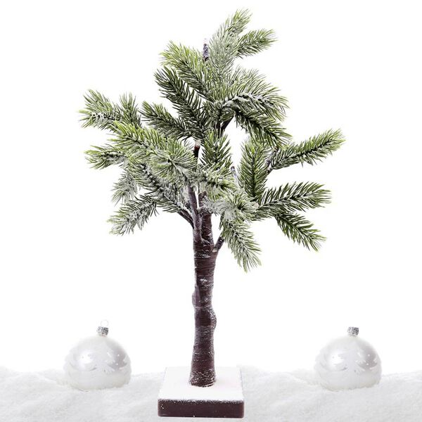 Battery Operated 50cm LED Christmas Tree with Snow (12 x Warm White LED)