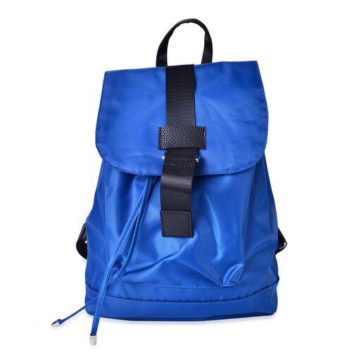 Designer Inspired Blue and Black Colour Back Pack (Size 32x27x13 Cm)