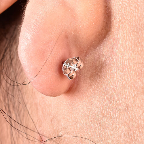 9K White Gold Earring Push Backs
