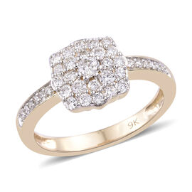 9K Yellow Gold SGL Certified Diamond (Rnd) (I2-I3/G-H) Ring 0.500 Ct.