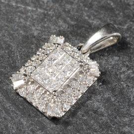 RHAPSODY 950 Platinum IGI CERTIFIED Diamond (E-F/VS) Pendant  0.50 Ct.