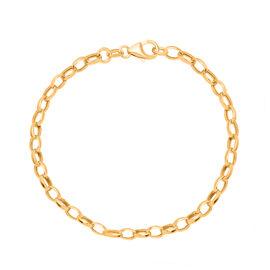 9K Yellow Gold Oval Belcher Bracelet (Size 7.5), Gold wt 1.70 Gms