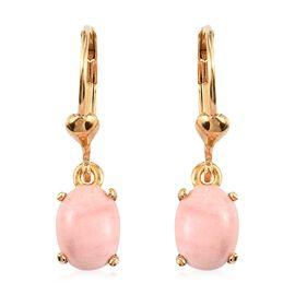 Oregon Sunrise Peach Opal Lever Back Earrings in 14K Gold Over Sterling Silver 1.75 Ct.