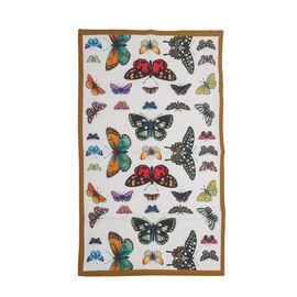 Pimpernel 100% Cotton Butterfly Print Botanic Garden Harmony Tea Towel in White (Size 75x46cm)