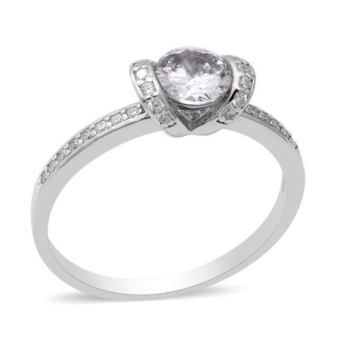 ELANZA Simulated Diamond Ring in Sterling Silver