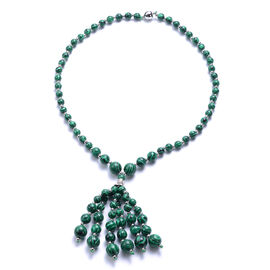 Malachite Beaded Necklace (Size 18) with Magnetic Lock 178.50 Gms