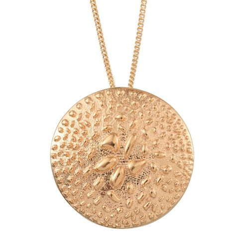 14K Gold Overlay Sterling Silver Rocky Shores Pendant With Chain, Silver wt 4.49 Gms.