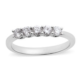 RHAPSODY 950 Platinum IGI Certified Diamond (Rnd) (VS/E-F) Ring 0.500 Ct.