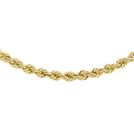 Italian Made- 9K Yellow Gold Rope Necklace (Size 20), Gold Wt. 4.40 Gms