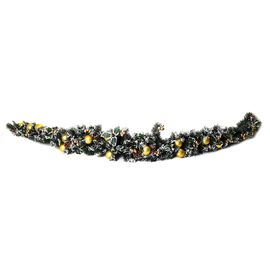 Christmas Deco - Christmas Garland Crescent with Gold Baubles, Berries and Pine Nuts Size 180 cm.