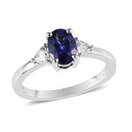 RHAPSODY 950 Platinum AAAA Tanzanite (Ovl), Diamond (VS/E-F) Ring 1.25 Ct.