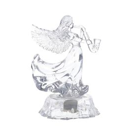 Christmas Decoration- LED in-bulit Crystal Angel playing with a Saxophone (Batteries not included)