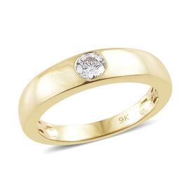 J Francis Made with Swarovski Zirconia Band Ring in 9K Gold 3 Grams