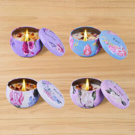 The 5th Season Set of 4 Scented Candle in Gift Box (Fragrance: Jasmine, Peony, Camellia & Rose)