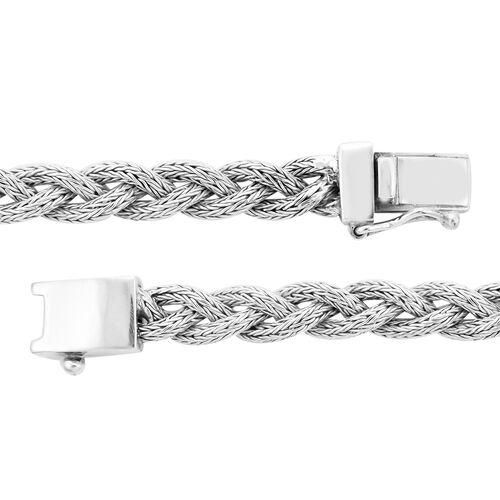 Royal Bali Collection - Sterling Silver Tulang Naga Kelabang Bracelet (Size 7.5), Silver wt 27.00 Gms