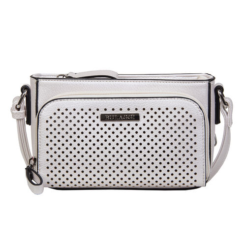 Bullagi Collection - Penny Crossbody Bag with Adjustable Shoulder Strap (18x12x5cm) - Oyster Colour
