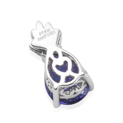 RHAPSODY 950 Platinum 1.80 Ct AAAA Tanzanite Pendant with Diamond (VS/F)