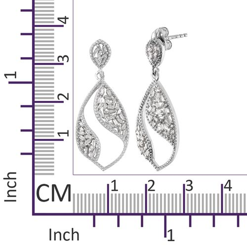 Diamond (Bgt) Earrings (with Push Back) in Platinum Overlay Sterling Silver 0.500 Ct.