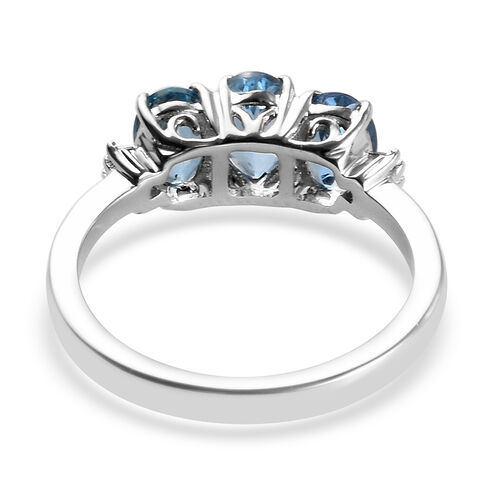 RHAPSODY 950 Platinum AAAA Santa Maria Aquamarine (Ovl), Diamond (VS/E-F) Ring 1.19 Ct.