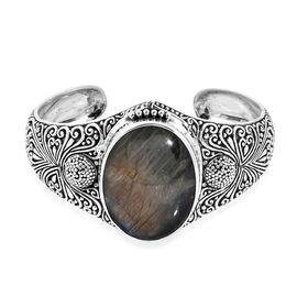 Royal Bali 97.58 Ct Labradorite Cuff Bangle in Silver 44.03 grams 7.25 Inch