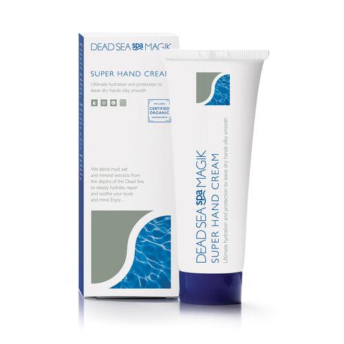 Dead  Sea Spa Magik: Spa Pamper Set - Spa Magik Refreshing Bath Shower Gel - 350ml, Spa Magik Body Lotion - 350ml, Spa Magik Super Hand Cream - 75ml, Spa Magik Salt Brushing - 500g