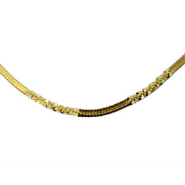 14K Gold Overlay Sterling Silver Necklace (Size 20), Silver wt 5.39 Gms