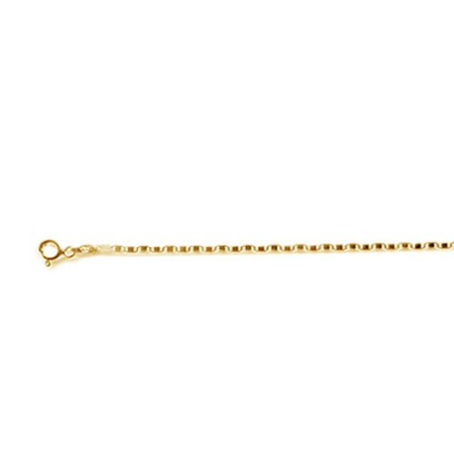Italian Made Diamond Cut 14K Gold Overlay Sterling Silver Flat Mariner Chain (Size 18)