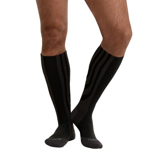 SANKOM SWITZERLAND Patent Socks - Black (Size REGULAR I / 3-5 UK)