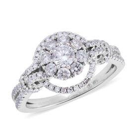 Super Auction- New York Close Out 14K White Gold Diamond (Rnd 0.25 Ct) (I1-I2 /G-H) Ring 1.00 Ct,