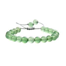Green Onyx Bracelet (Size 6.5-9.5 Adjustable) with Thread Shambhala Lock 72.00 Ct.