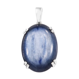 Rare Size High Lustre Kyanite (Ovl 20x15 mm) Pendant in Sterling Silver 17.00 Ct.