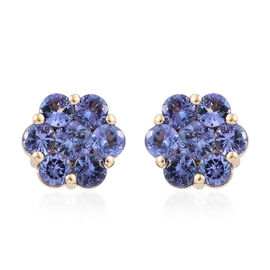 Close Out Deal-14K Yellow Gold AA Tanzanite (Rnd) Stud Earrings (with Push Back) 3.000 Ct.