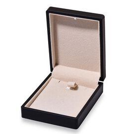 Solid Black Colour Necklace Box with LED Light (Size 9x2.5x7 Cm)