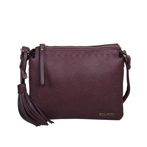 Bulaggi Collection - Gerbera Crossbody Bag with Adjustable Shoulder Strap and Detachable Tassel (Siz