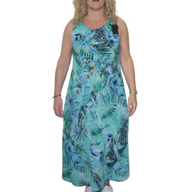 Reversible printed Midi dress