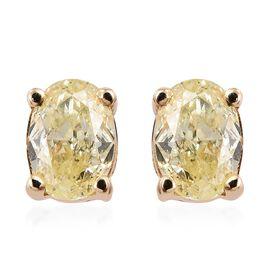 Diamond 9K Y Gold Earring  0.330  Ct.