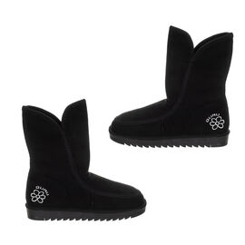 GURU Womens Winter Fluffy Ankle Boots - Black
