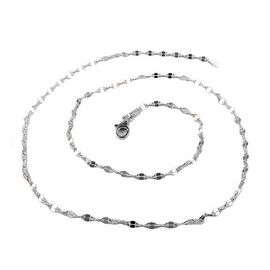 Vicenza Collection- Sterling Silver Moka Necklace (Size 24)