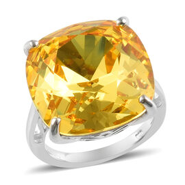 J Francis Light Colorado Topaz Crystal from Swarovski Solitaire Ring in Silver