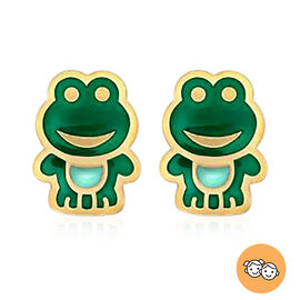 Children Frog Stud Earrings in 9K Yellow Gold