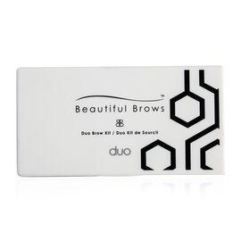 Beautiful Brows: Nano Kit (Incl. Powder, Brush & 6 Stencils) - Slate/Black