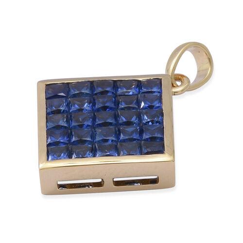 ILIANA 18K Yellow Gold AAAA Ceylon Blue Sapphire Pendant 1.25 Ct.