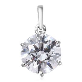 J Francis - 9K White Gold (Rnd) Solitaire Pendant  Made with SWAROVSKI ZIRCONIA 3.30 Ct.