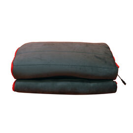 Red and Grey Colour 8 Motor Massage Mat (Size 170x60 Cm)