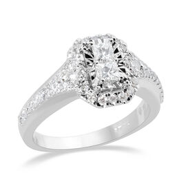 New York Close Out 0.75 Ct Diamond Cluster Ring in 14K White Gold I1 I2 GH